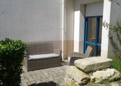terrasse chambre double jardin
